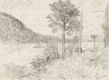 Entrance to Fulford Harbour, BC by Edward John (E.J.) Hughes