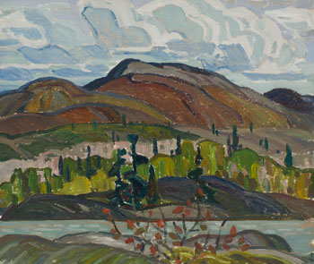 La Cloche / Windswept Farm (verso) by Franklin Carmichael