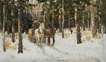 Logging, Winter by Frederick Simpson Coburn