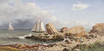 Off the Gloucester Coast by Lucius Richard O'Brien