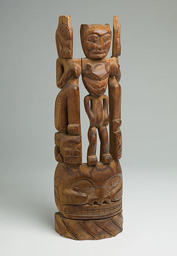 Northwest Coast Totem Pole by  Northwest Coast Artist, Unidentified