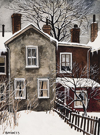 Fresh Snow, Greenwood Place by John Kasyn
