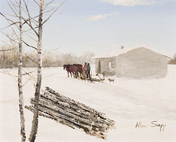 Going to Pick Up More Wood by Allen Sapp