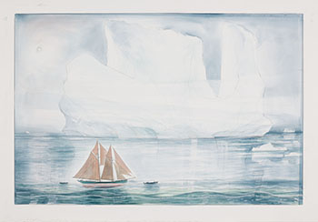 Towing the Nickerson in the Labrador Sea by David Lloyd Blackwood