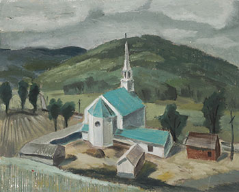 Rural Church by Bruno Joseph Bobak