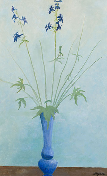 Flowers in a Blue Vase by Donald M. Flather