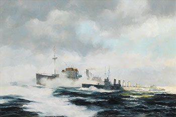 Into the Logbook - 4 Stacker Destroyers, WWII by Robert McVittie