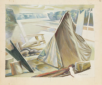 Lakeside Camp by Lawrence Arthur Colley Panton