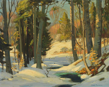 Winter Forest Scene by Frank Shirley Panabaker