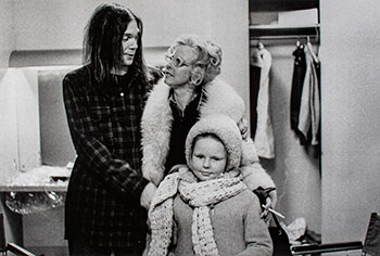 Neil Young with step-mother Astrid, and half-sister Astrid, backstage at Massey Hall, January 19, 1971 by Joan Latchford
