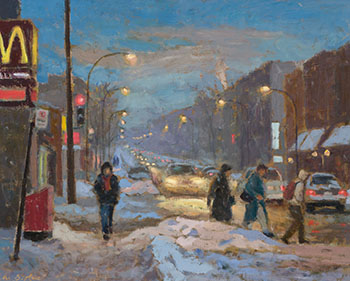 Evening on Queen Mary Road, Montreal by Antoine Bittar