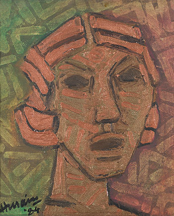 Bronze Head by Maqbool Fida Husain